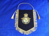 ROYAL AIR FORCE ( RAF ) BULLION WIRE EMROIDERED PENNANT